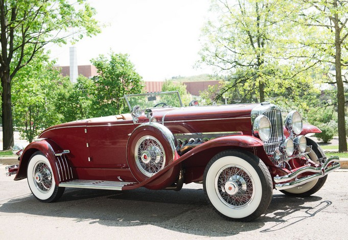 1931 Duesenberg Model SJ 345 Disappearing Top Convertible Coupe by Murphy