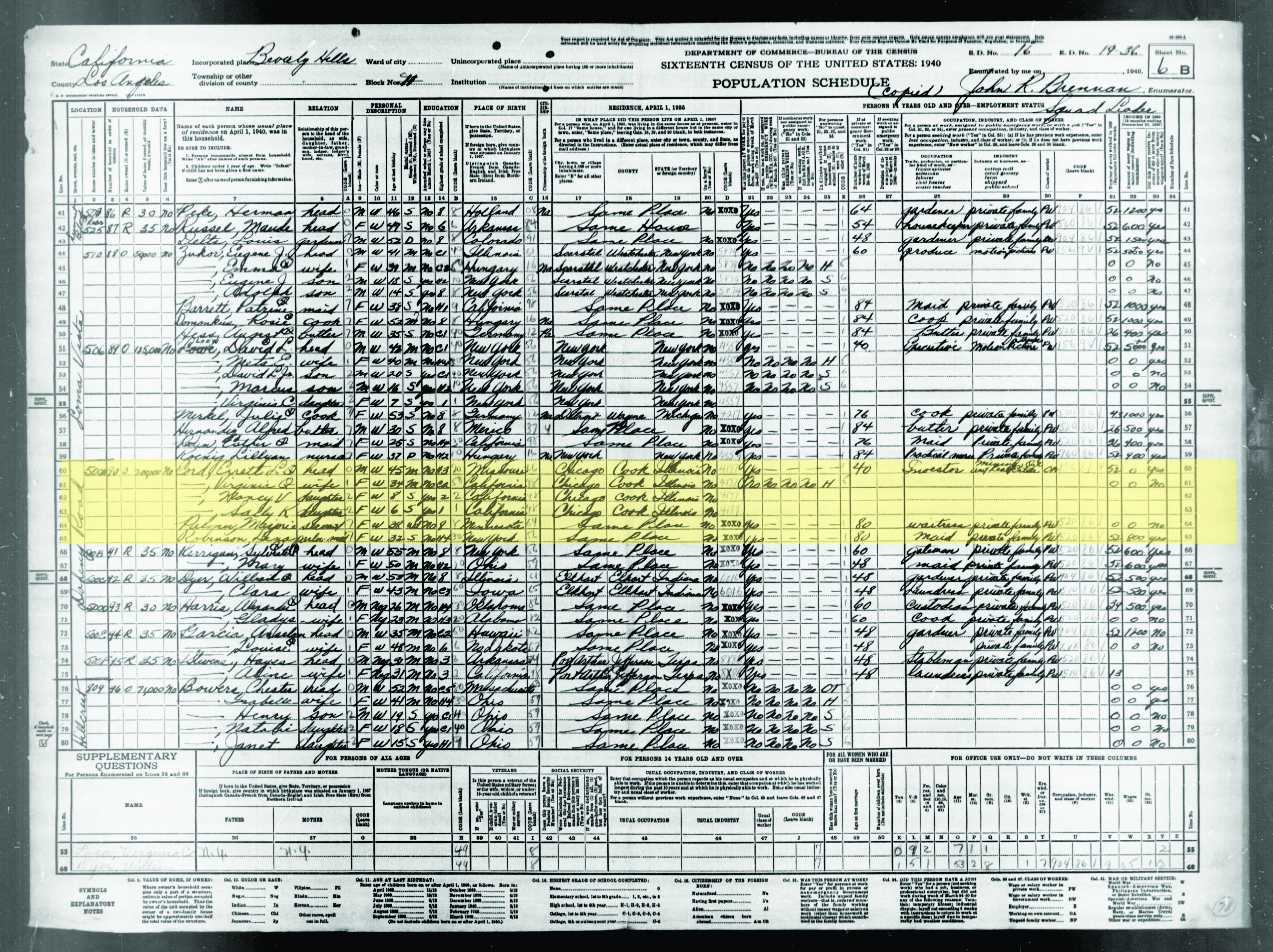 Cord census