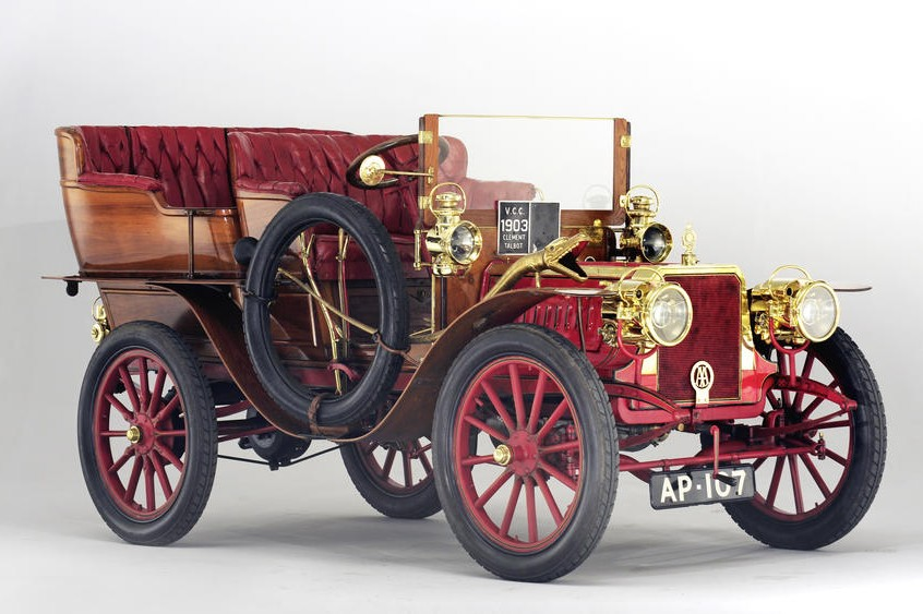 1903 Clement-Talbot Type CT4K 18hp Four-Cylinder Roi-d'Italie Tonneau by Rothschild