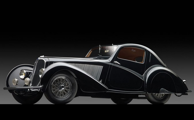 1936 Delahaye Type 135 Competition Court Teardrop Coupe by Figoni et Falaschi