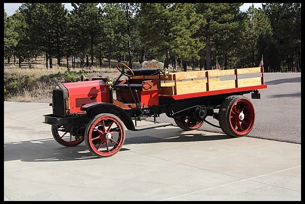 1915 White 5-Ton Stake Bed Truck